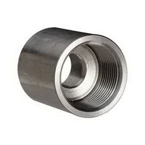 Steel Class 3000 Forged Reducing Coupling, 3/4 in x 1/2 in, Threaded, Import