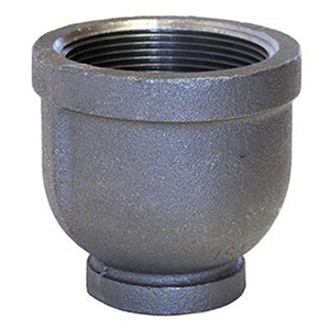 Galvanized Malleable Iron Class 150 STD Reducer, 2-1/2 in x 1-1/2 in, FNPT, Domestic