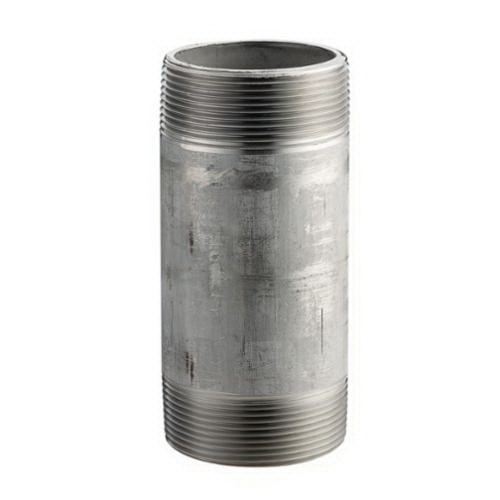 304 Stainless Steel SCH 40 Welded Nipple, 1/4 in x 4 in, MNPT