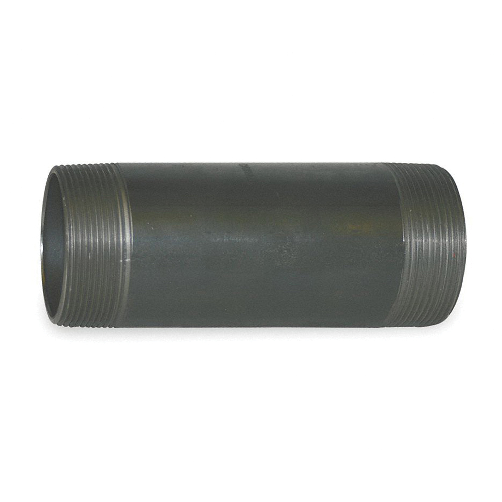 Black Steel SCH 80 Seamless Extra Heavy Pipe Nipple, 4 in, MNPT