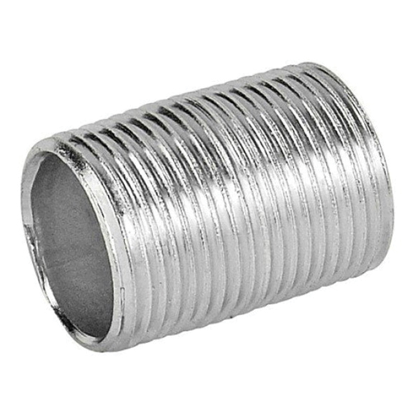 Galvanized Steel SCH 40 Welded Pipe Nipple, 1-1/2 in x 4-1/2 in, MNPT