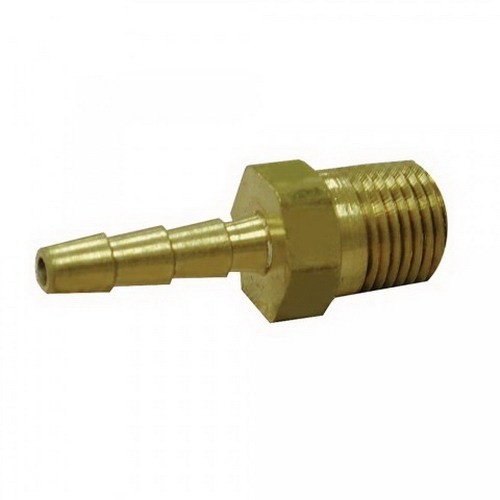 Polished Chrome Brass Hose Adapter, 3/8 in, Barb x MIP