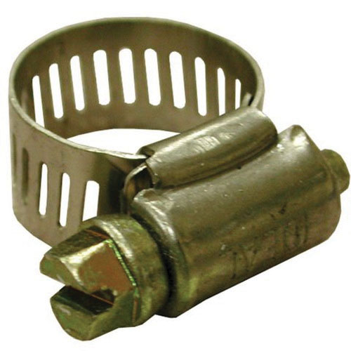 Stainless Steel Full Size Worm Gear Clamp, #24, 1 - 2 in Dia