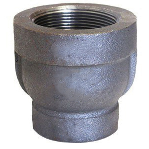 Black Malleable Iron Class 300 XS/XH Reducer, 1-1/4 in x 1 in, FNPT, Domestic