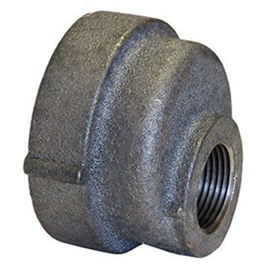 Black Cast Iron Class 125 STD Eccentric Reducer, 1-1/2 in x 1/2 in, FNPT, Domestic