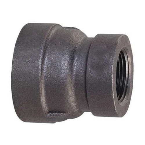 Black Malleable Iron Class 300 XH Reducing Coupling, 1 in x 3/4 in, Threaded, Import
