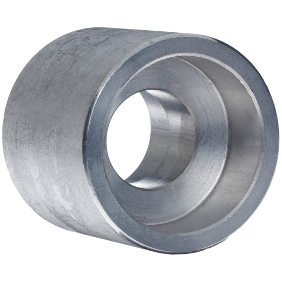 Steel Class 3000 Forged Reducing Coupling, 1-1/2 in x 1 in, Socket Weld, Import