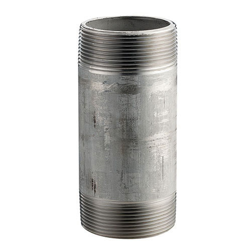 304L Stainless Steel SCH 80 Seamless Pipe Nipple, 1/2 in x 4 in L, MNPT, Domestic