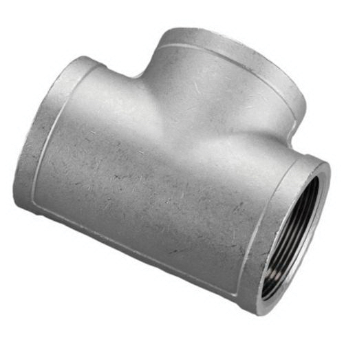 316 Stainless Steel Class 150 Cast Banded Tee, 3 in, FNPT, Import