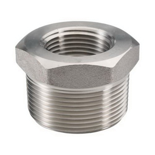 316L Stainless Steel Class 3000 Forged Hex Bushing, 1 in x 1/2 in, MNPT x FNPT, Import