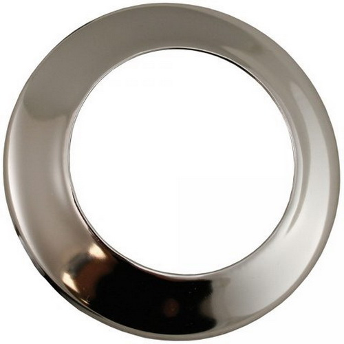 Chrome Steel Low Pattern Sure Grip Escutcheon, 1-1/2 in IPS
