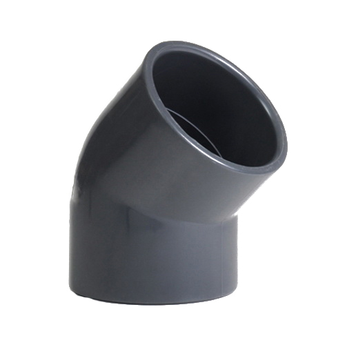 Gray PVC SCH 80 Molded 45 deg Elbow, Socket