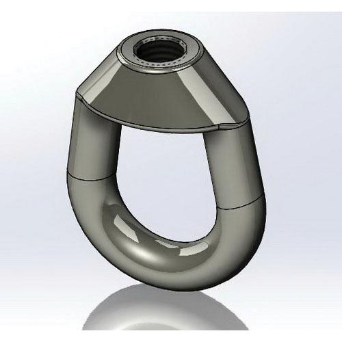 Plain Carbon Steel Weldless Eye Nut, 1/2-13 x 1-1/4 in, 1350 lb at 650 deg F, 1010 lb at 750 deg F