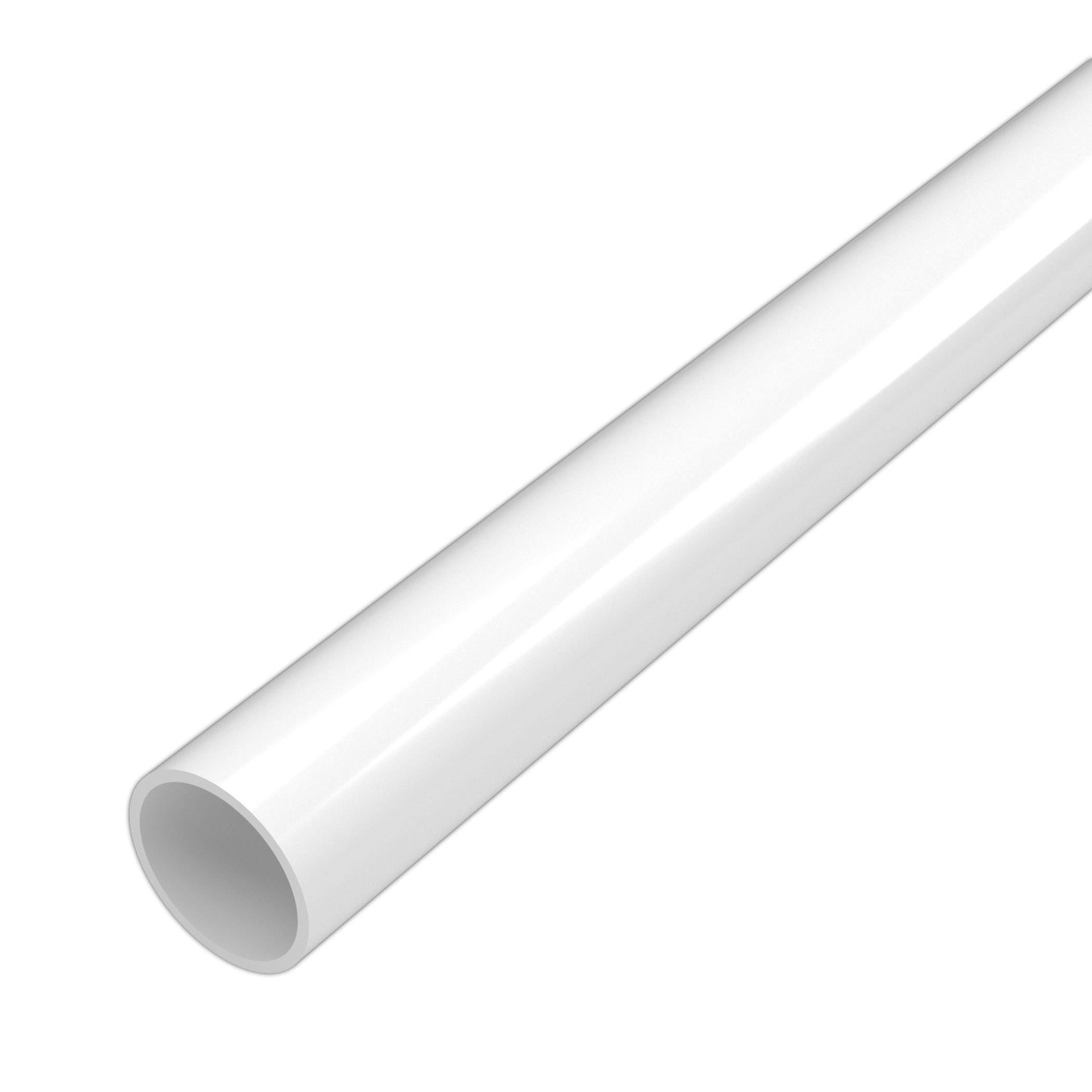 PVC SCH 40 Pipe, 20 ft, Bell End