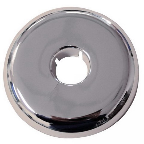 Chrome Plastic Flexible Floor and Ceiling Plate, 1 in IPS