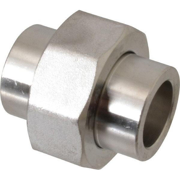 304L Stainless Steel Class 3000 Forged Union, 2-1/2 in, Socket Weld