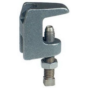 Plain Ductile Iron Universal Wide Throat Type C Beam Clamp, 3/8 in, 500 lb Top, 250 lb Bottom
