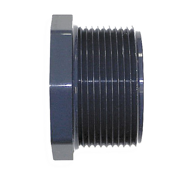 Gray CPVC SCH 80 Flush Style Reducer Bushing, 3/4 in x 1/2 in, MNPT x FNPT