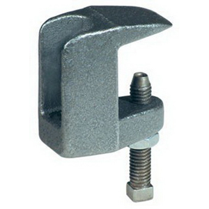 Plain/Black Ductile Iron Wide Throat Type C Top Beam Clamp, 3/4 in, 1600 lb, Domestic
