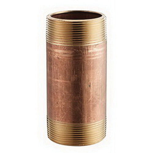 Red Brass SCH 40/STD Seamless Pipe Nipple, 1 in x 3 in L, MNPT, 25/BX