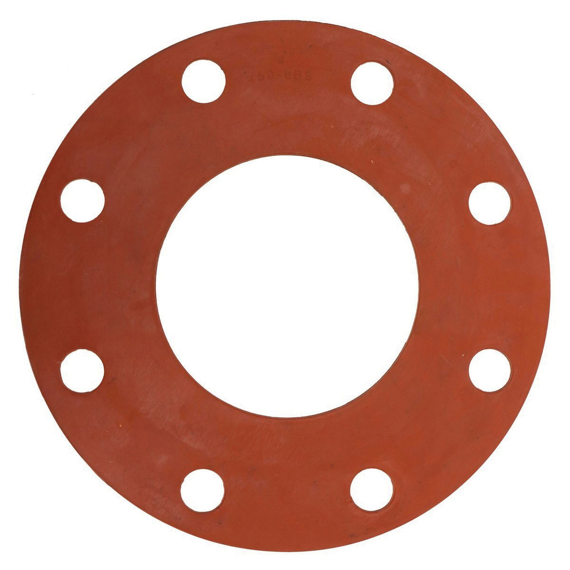 Red Rubber Class 150 Full Face Gasket