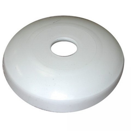 White Plastic Shallow Flange Escutcheon, 3/4 in CTS