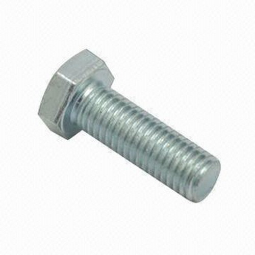 Plated Hex Head Bolt, 5/8 in x 3 in L