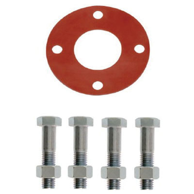 Zinc Plated Red Rubber Class 150 Ring Bolt Pack, 3 in