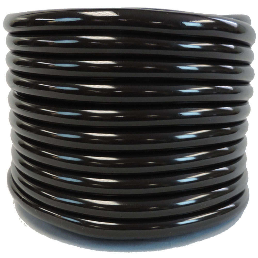 Black Polyethylene Flexible Coiled Tube, 3/4 in x 200 ft