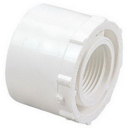 PVC SCH 40 Reducer Bushing, 2 in x 3/4 in, Spigot x FNPT