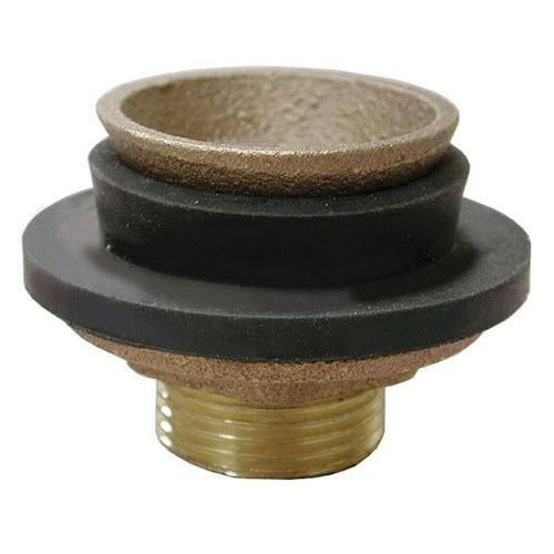 Cast Brass Closet Spud, 1-1/2 in ID x 2-1/4 in OD