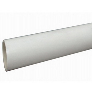 White PVC SCH 40 Solid Pipe, 20 ft, Plain End