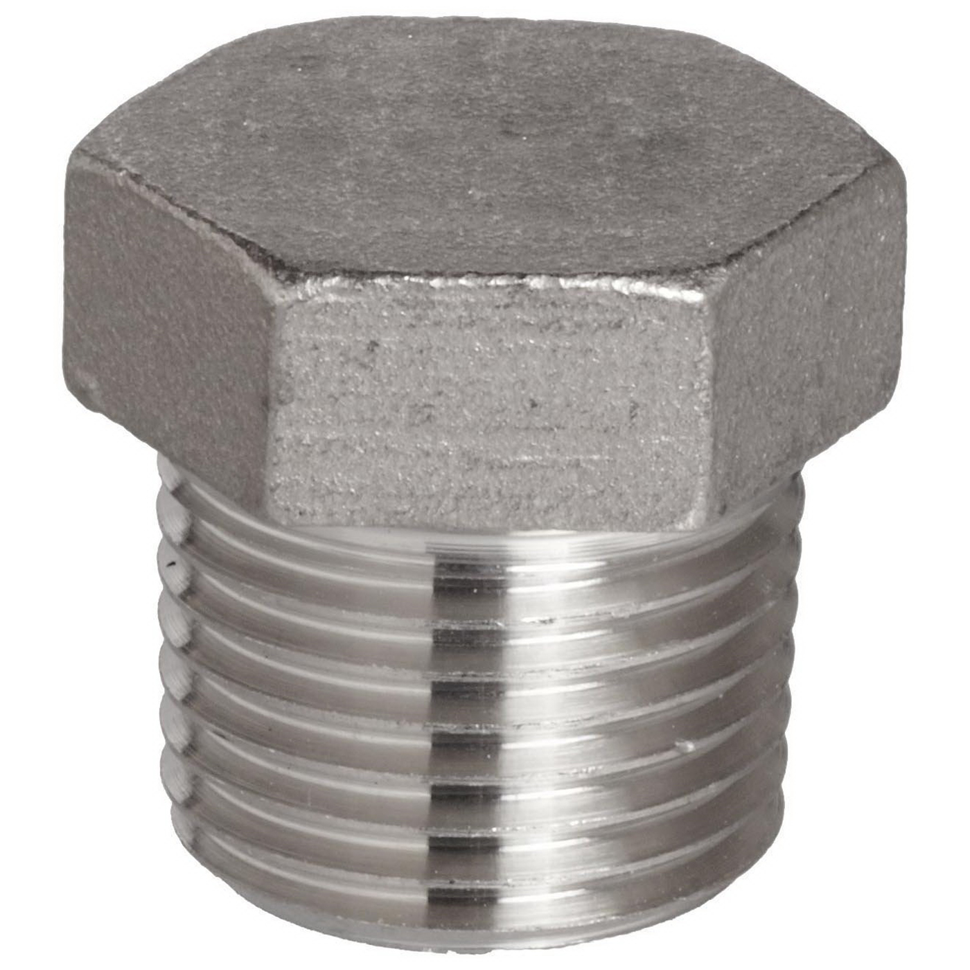 316L Stainless Steel Class 3000 Hex Head Plug, 3/4 in, Import