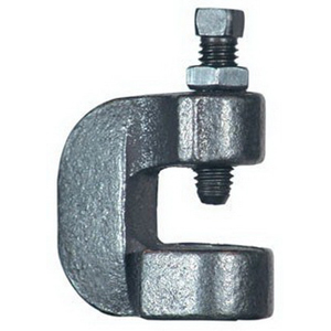 Plain/Black Malleable Iron C-Clamp, 3/4 in, 500 lb