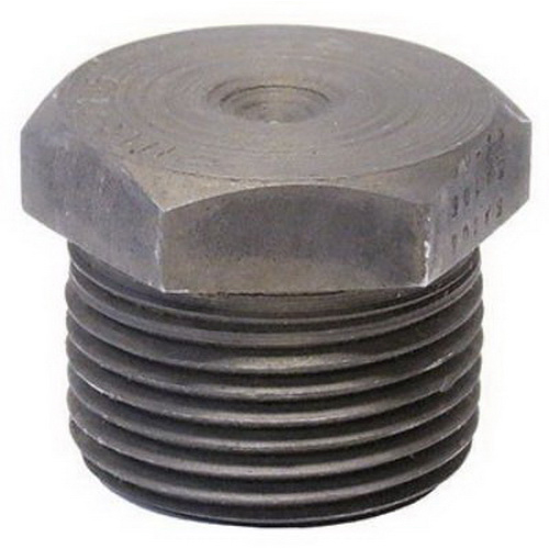 Steel Class 3000 Forged Solid Hex Head Plug, 3/4 in, MNPT, Domestic