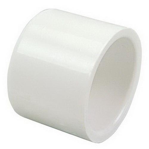 White PVC Class 150 SCH 40 Round Cap, Slip