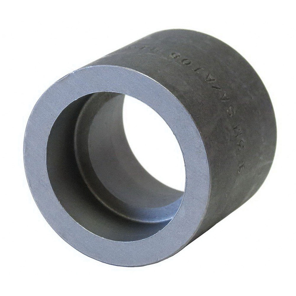 Black Steel Class 3000 SCH 80 Forged Reducing Coupling, 2 in x 1 in, Socket Weld, Domestic, 10/CT