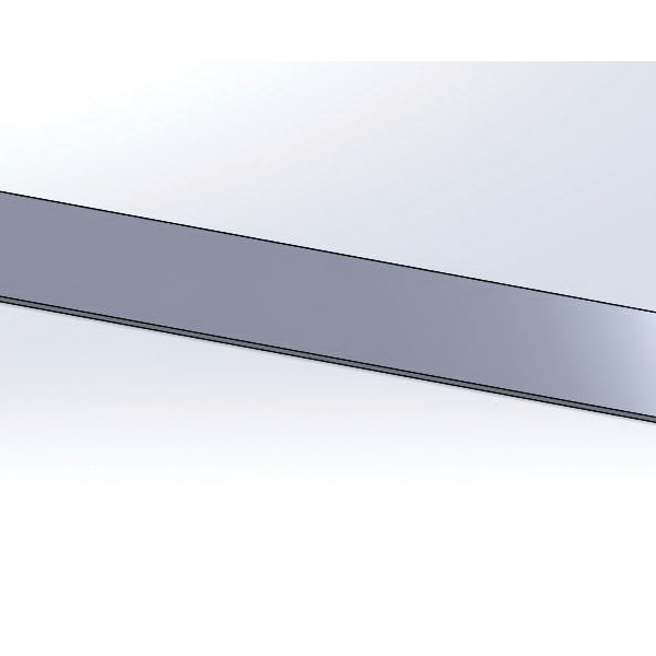 Electro Galvanized Retaining Strap, 3/8 in x 1/2 in x 12 in