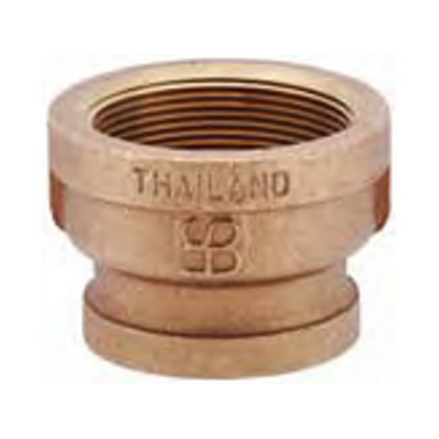 Brass Reducer Coupling, 1/2 in x 3/8 in, Threaded