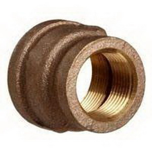 Brass Reducer Coupling, 1/2 in x 1/4 in, Threaded