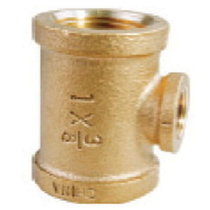 Brass Reducing Tee, 2 in x 3/4 in, Threaded