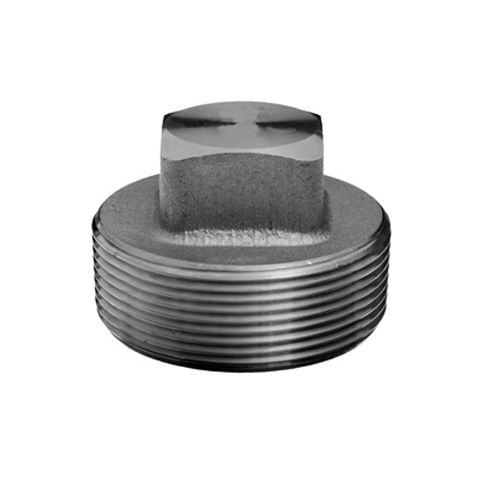 Steel Class 3000 Forged Square Head Plug, 1 in, Import