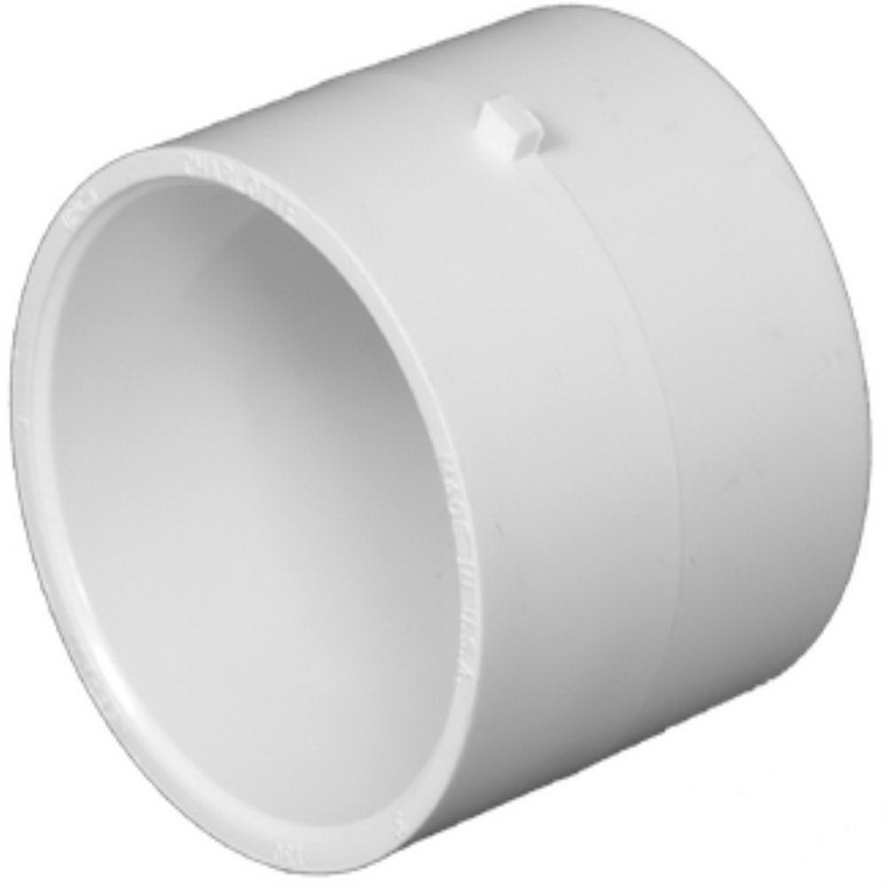 PVC DWV Concentric Reducer Coupling, 10 in x 6 in, Hub