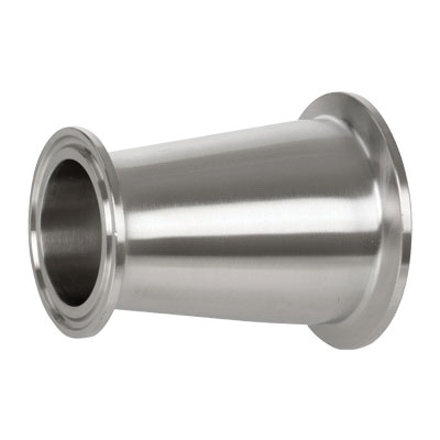 304 Stainless Steel Sanitary Concentric Reducer, 3 in x 1-1/2 in, Clamp End
