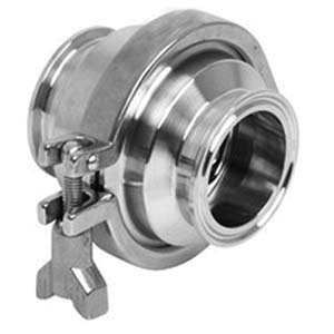 316 Stainless Steel Sanitary Check Valve, Clamp End, 150 psi