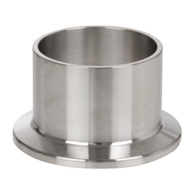 Gray 304 Stainless Steel Sanitary Long Weld Ferrule, Clamp End