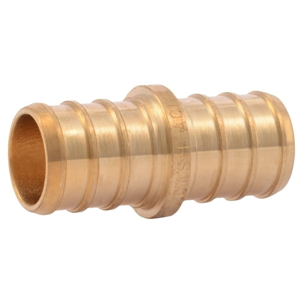 Brass Reducer Coupling, 3/4 in x 1/2 in, PEX Barb