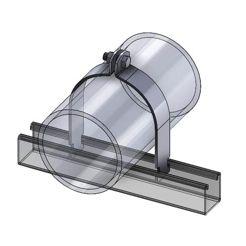 304 Stainless Steel Rigid IPS Strut Clamp