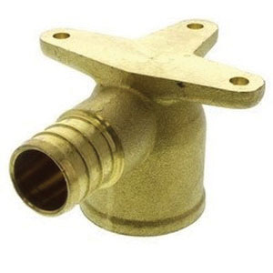 Brass 90 deg Drop Ear Elbow, 1/2 in, PEX Barb x FNPT