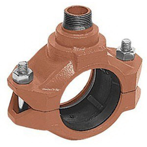 Painted Ductile Iron Outlet Coupling, 3 in x 3/4 in, FIPS